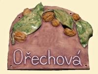 Ořechová cedule